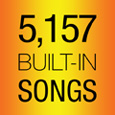 5,157 Built-in Songs